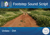 Footstep Script - Unisex - Dirt 1 - Single
