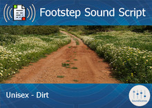 Footstep Script - Unisex - Dirt 1 - Single