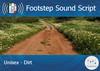 Footstep script   unisex   dirt
