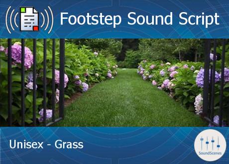 Footstep Script - Unisex - Grass - Single