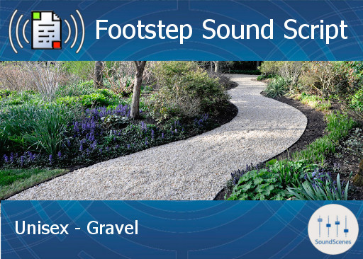Footstep Script - Unisex - Gravel - Single