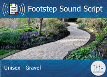 Footstep Script - Unisex - Gravel - Single