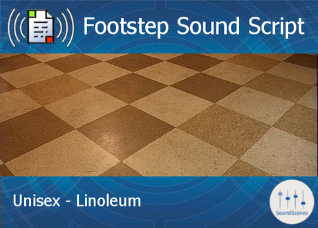 Footstep Script - Unisex - Linoleum - Single