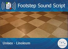 Footstep Script - Unisex - Linoleum - Single