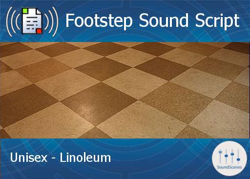 Footstep Script - Unisex - Linoleum - Copy