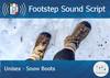 Footstep script   unisex   snow boots