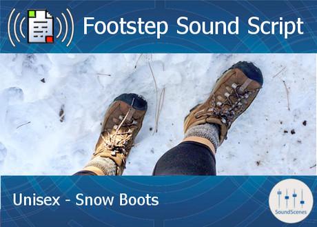 Footstep Script - Unisex - Snow Boots - Copy
