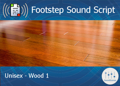 Footstep Script - Unisex - Wood 1 - Single