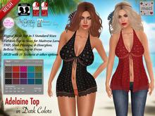 Maci ~ Adelaine Top - Dark Colors (for Mesh Bodies & Classic Avatars)