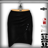 ! *IC* Maya Leather Skirt Black