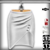 ! *IC* Maya Leather Skirt White