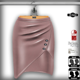 ! *IC* Maya Leather Skirt Rose Quarz