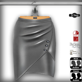 ! *IC* Maya Leather Skirt Silver