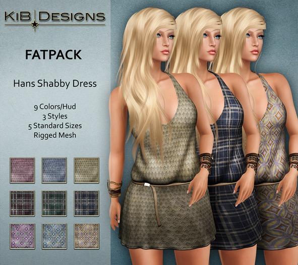 KiB Designs - Hans Shabby Dress FATPACK