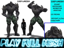 **Giant Geodome Monster Avatar**PlayFullMeshMP