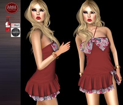 M&M-DRESS 29-RED