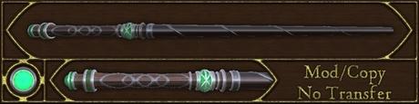 Dark Emerald Wand - crafted magic wand