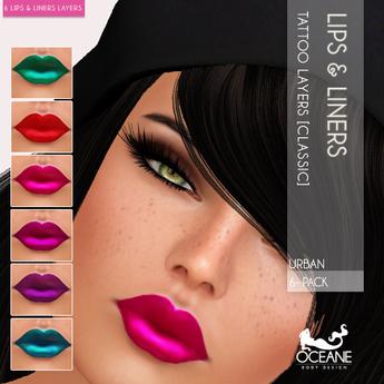 PROMO! Oceane - Urban Lipsticks & Liners 6-Pack [Classic]