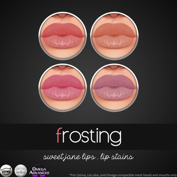 Catwa Makeup .::frosting::. Lip Stains (Catwa Applier, Catwa Lipstick, Catwa Makeup, LeLutka Makeup, Omega Makeup)
