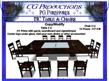 CGP MC Biker Table & Chairs