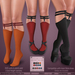 *MUKA* Garter Socks Dark (Slink Shoes Compatible)