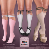 *MUKA* Garter Socks Light (Slink Shoes Compatible)