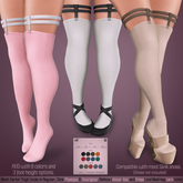*MUKA* Garter Thigh Socks Light
