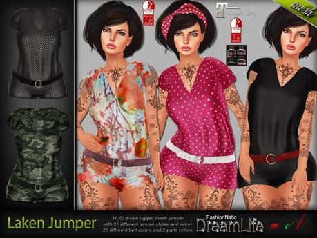 Laken Jumper - Maitreya Lara, Slink Physique Hourglass, Belleza Isis Freya Venus, TMP - DreamLife - FashionNatic