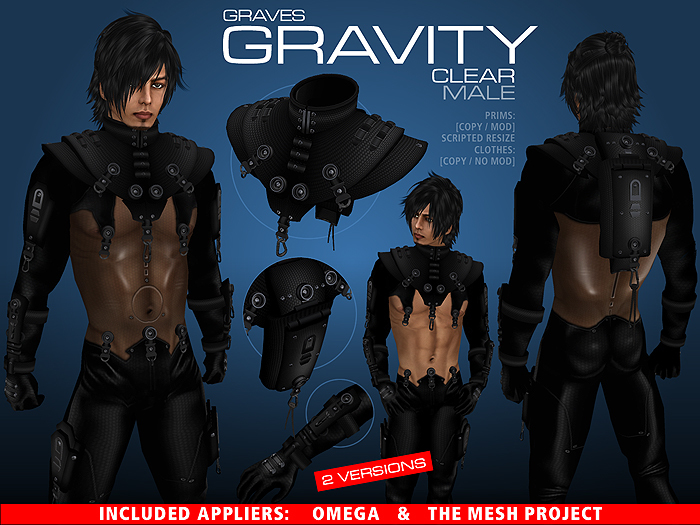 GRAVES Gravity - Clear - male + inclusive Omega, TMP appliers