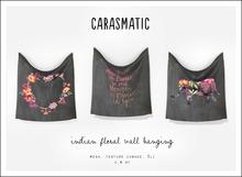 carasmatic. indian floral wall hanging
