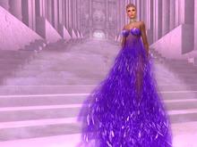 Paris METRO Couture: Purple Rain II Gown with Appliers + Stiletto Platform Shoes
