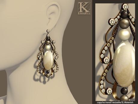 (Kunglers) Margarita earrings - Pearl