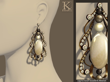 (Kunglers) Margarita earrings - Pearl