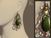 (Kunglers) Margarita earrings - Malachite