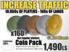 Linden Gold Hunter Coinage Pack (50% Tax) - Boost your Traffic - Increase Sales - Free Visitors