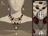 (Kunglers) Amora set - Silver ruby