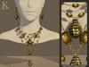 (Kunglers) Amora set - Golden malachite