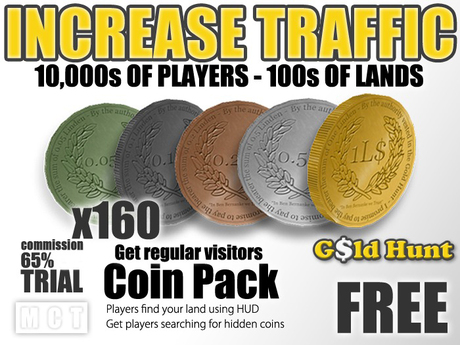 Gold Hunt Coins Pack FREE - Increase Land Traffic (65% commission)