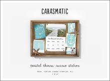 carasmatic. coastal charm memo board