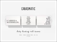 carasmatic. dirty dancing wall canvas