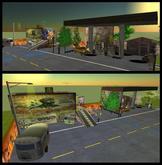Cars workshop - car garage & Gas station