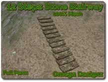 12 Steps Mesh Stone Stairway Full Perm