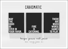 carasmatic. hunger games wall print