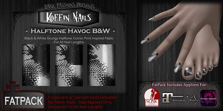 Koffin Nails - FatPack - Halftone Havoc B&W