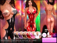 ALESSANDRA - Latex Chain Back & Hot Suit (6 Colors)
