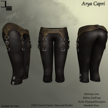 DE Designs - Arya Capri - Old Leather