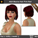 A&A Maxine Hair Pink Red (Special Color). Functional DEMO. Womens mesh bob hairstyle