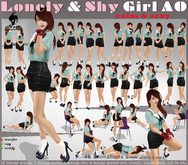 Voir - LONELY & SHY GIRL  AO