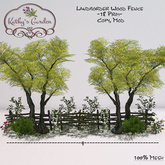 Kathy`s Garden Landborder Wood Fence