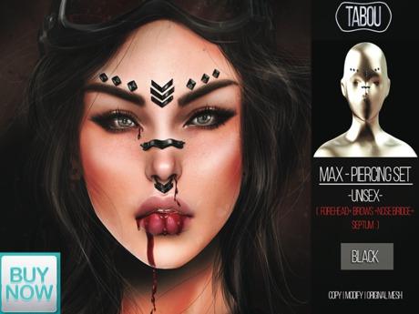 TABOU.Max Piercing Set -BLACK-